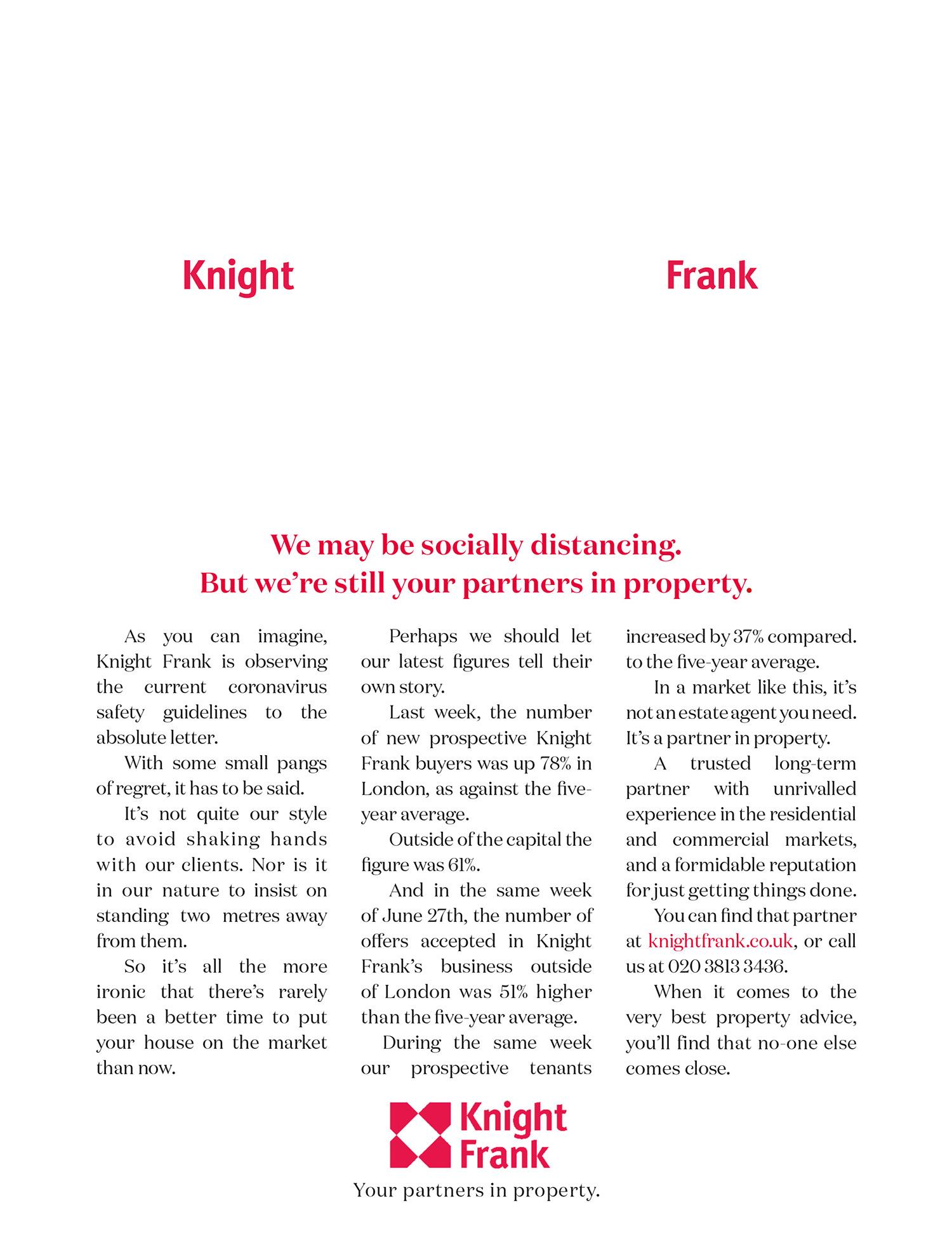 Knight Frank Social Distancing ad