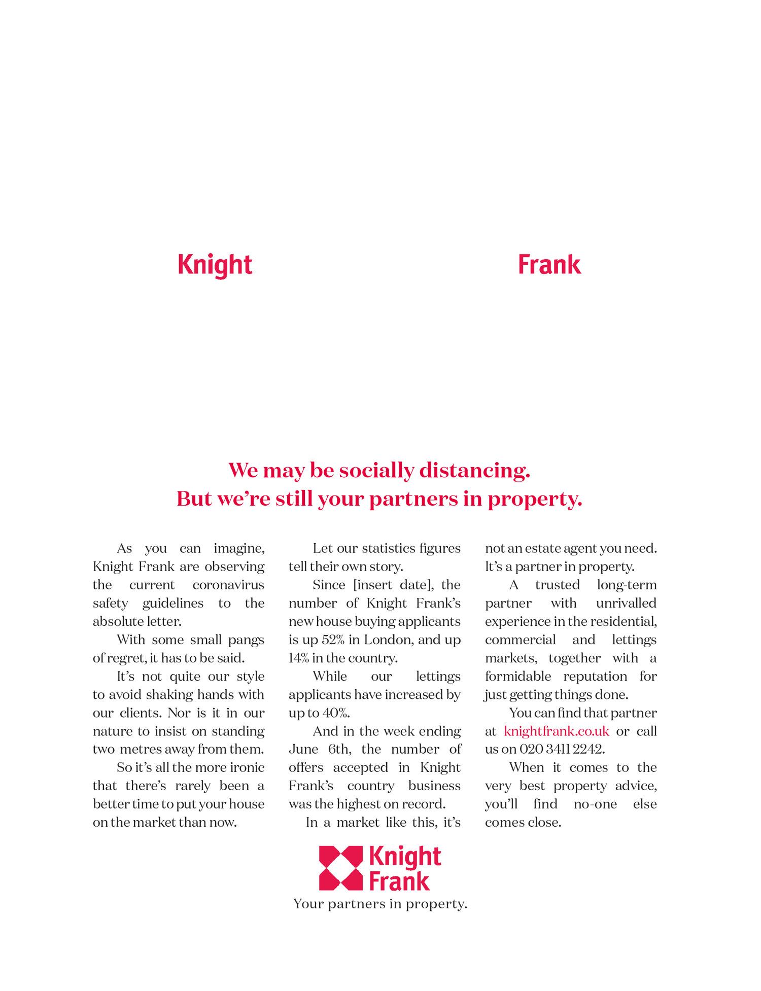 Knight Frank Social distancing